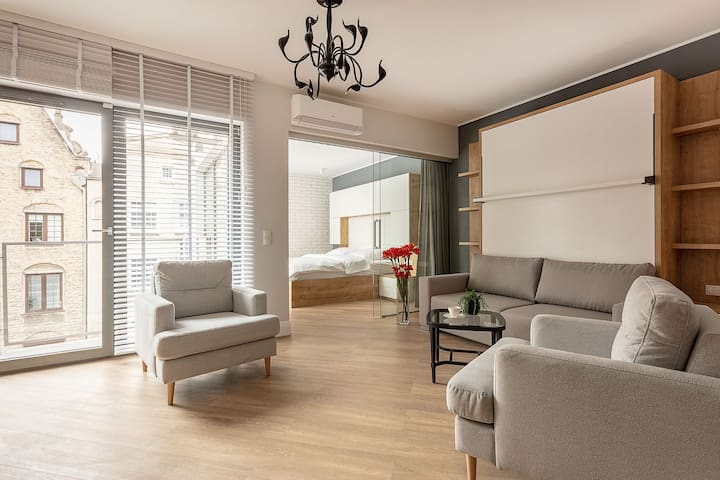 Old Town apartment with balcony