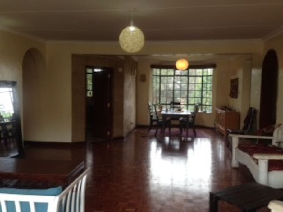 View of dining room from lounge