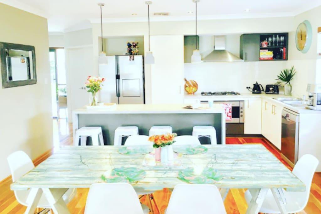Large living area. Full kitchen with dishwasher