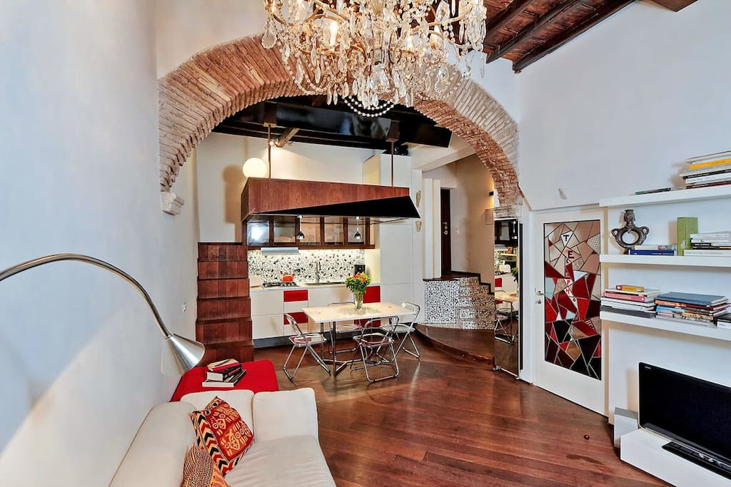 Appartamento moderno e di design campo de fiori 3 for Appartamento design roma