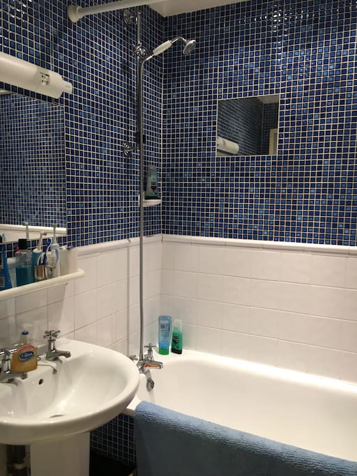 Fully tiled shared bathroom situated next door to the single bedroom with great shower and constant hot water