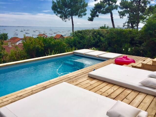 Belle propriété avec vue imprenable sur le Bassin