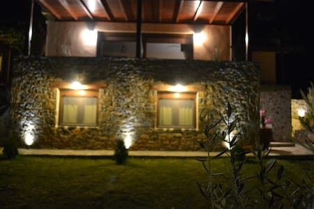 Evia family house with sea view & private garden.