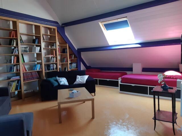 Loft, 85 m2, dans maison et table d'hôtes, Centre