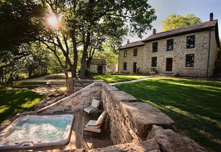 Historic Limestone Estate in the Tallgrass Prairie