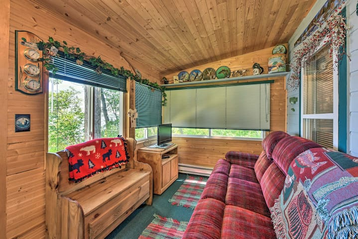 NEW! Lakefront Cabin with Fire Pit, Fishing Dock!