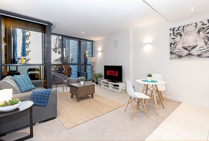 Huge 1 Bedroom Apart in CBD with NETFLIX and More