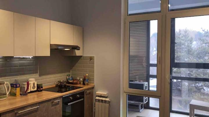 A spacious new apartment downtown Almaty