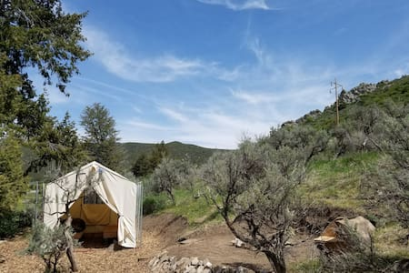 """Junipers Rest""  Tent Cabin - Lava Hot Springs"