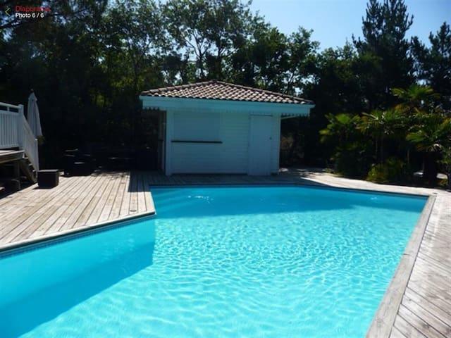 Splendide villa avec piscine maisons louer la teste for Cash piscine la teste