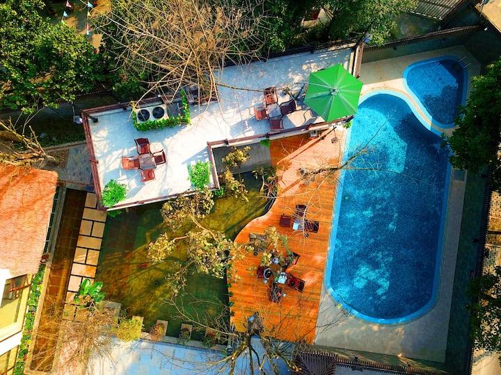 水淘地暖温泉别墅-专属于你的独享庭院