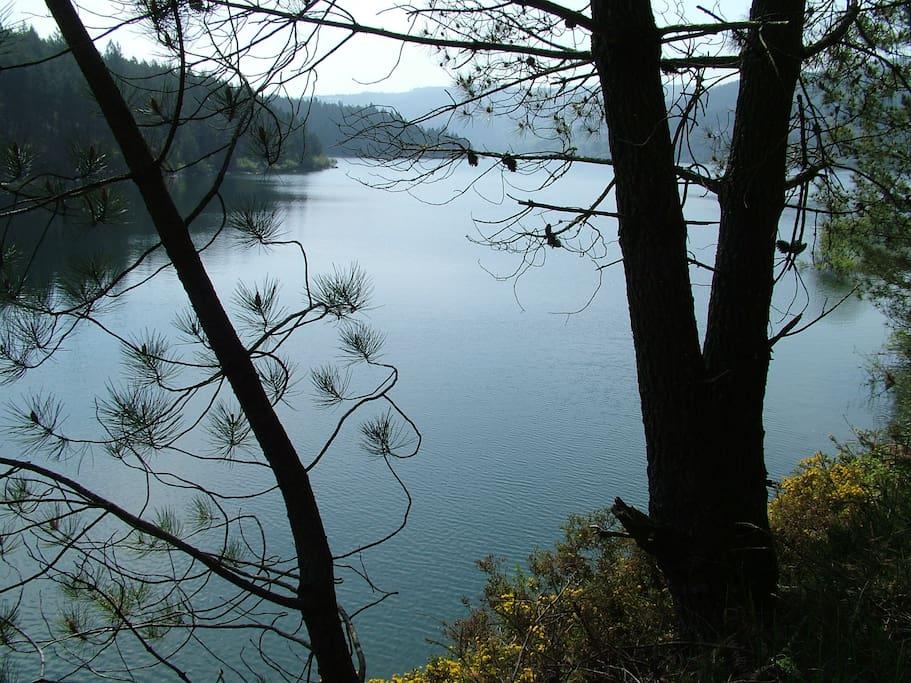 Lago na baragem