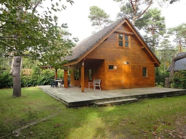 Heerlijk 6 pers. boshuis op de Veluwe