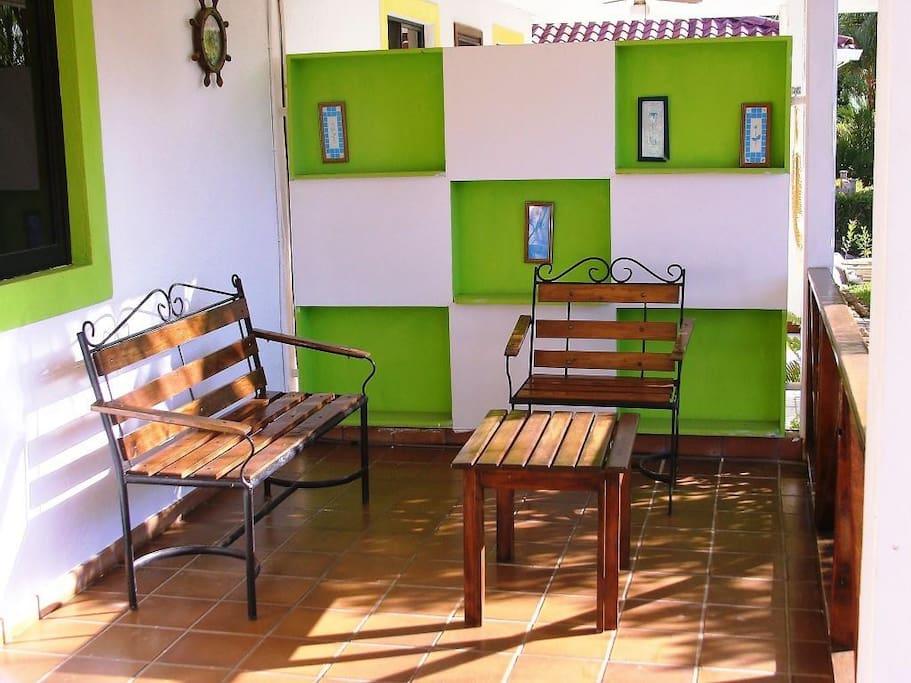 Sala de entrada principal a la villa