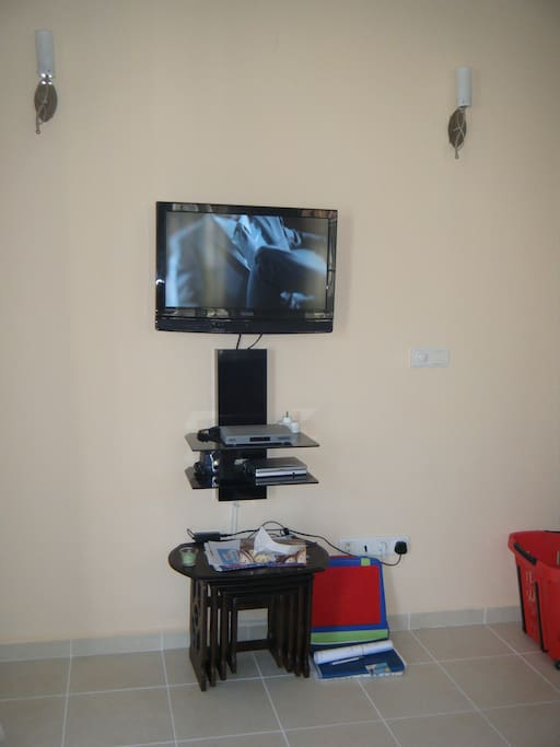 TV, satellite and DVD player