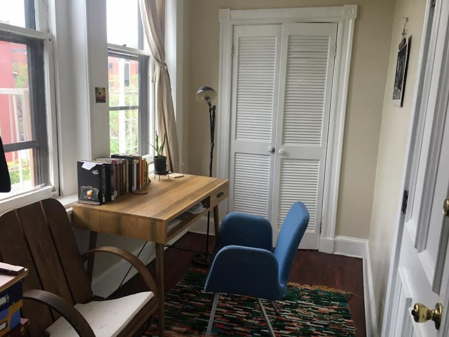 This office/laundry room is attached to the bedroom for your use.