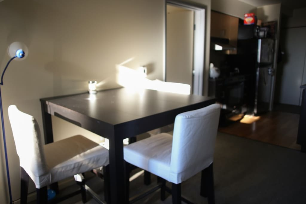 Counter height dining table -- only have 3 chairs though
