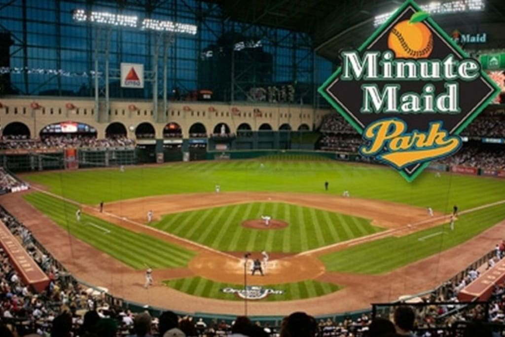 Lets go Astros! Minute Maid Ballpark Minutes away from park