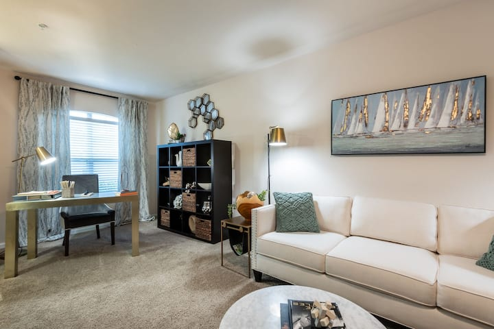 Live + Work + Stay + Easy | 2BR in Durham