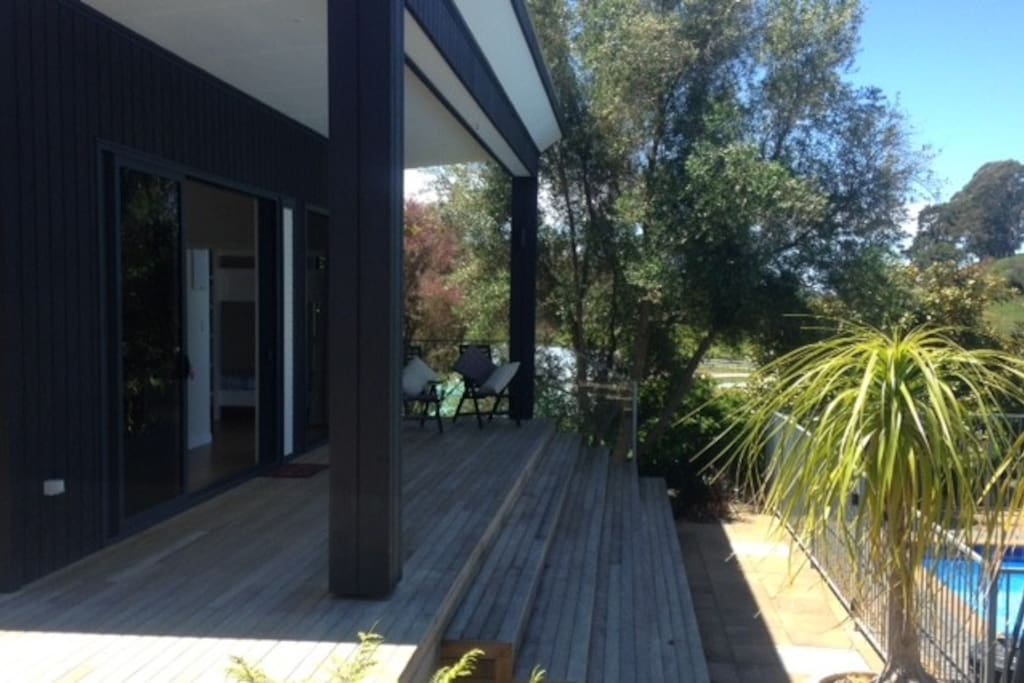Deck Out Front overlooking Pool