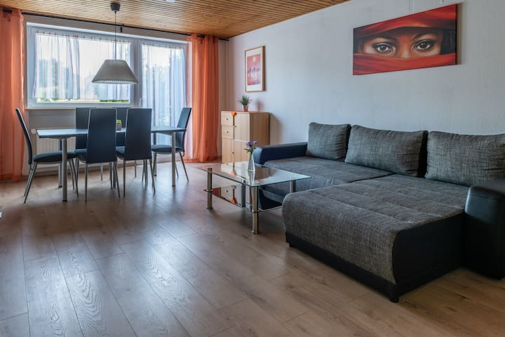 Spacious apt. for up to 6 people near Heidelberg