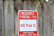 Yes, your OWN off street parking space!