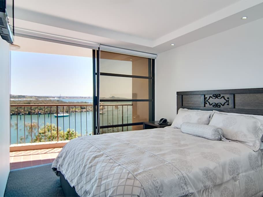 Both bedrooms have balcony access
