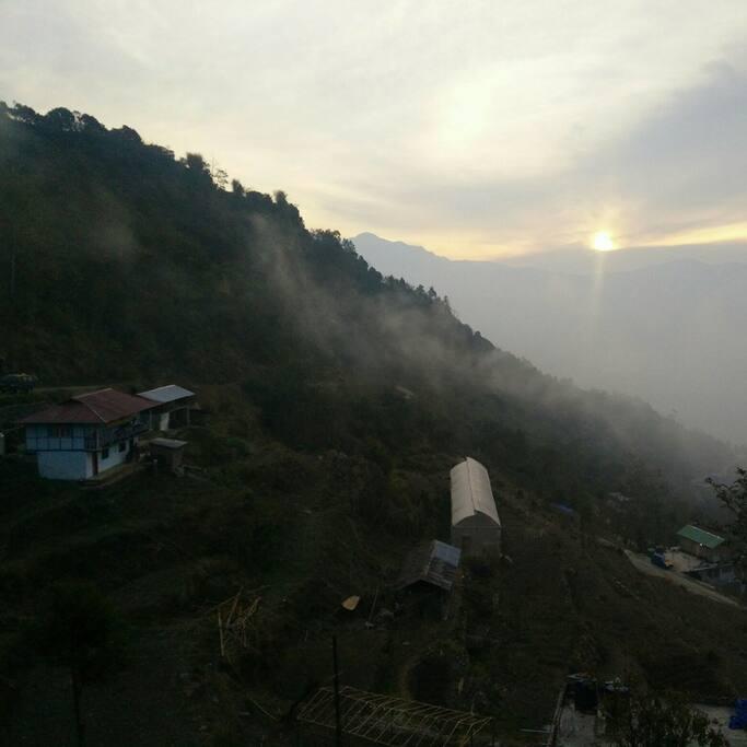 A Yakten village sunrise