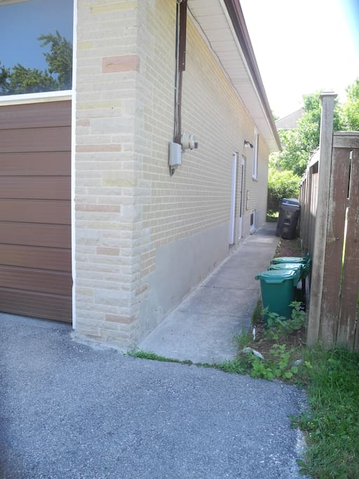 Side Entrance for basement