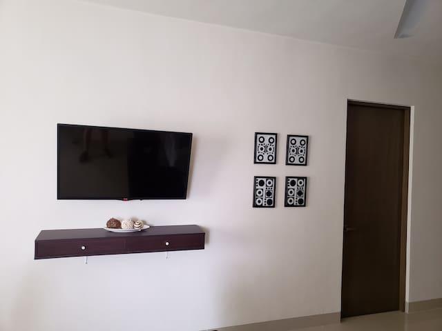 Sala con smart tv