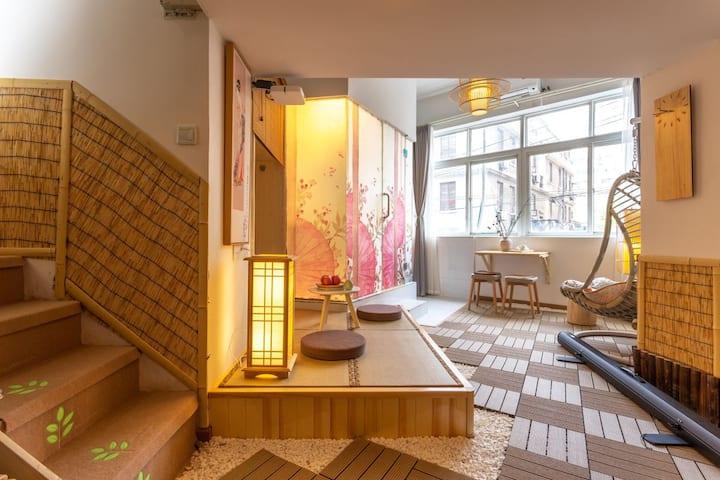 日式民居风格。