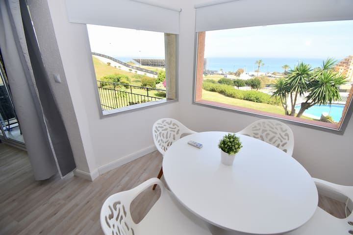 Apartment with pool by Fuengirola beach & castle