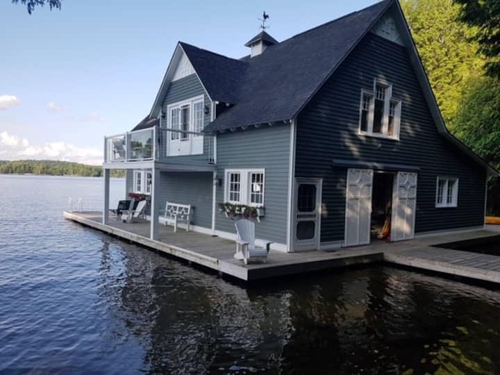 Muskoka Island Boathouse for Rent Water Access