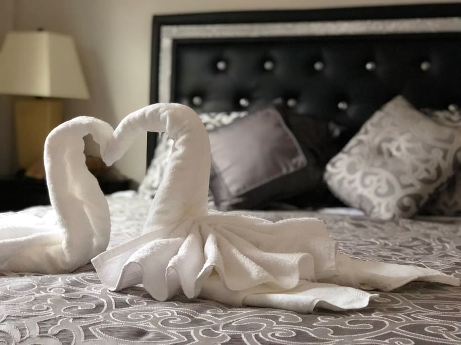 We can't guarantee towel swans each time, but we will provide you the towels :)