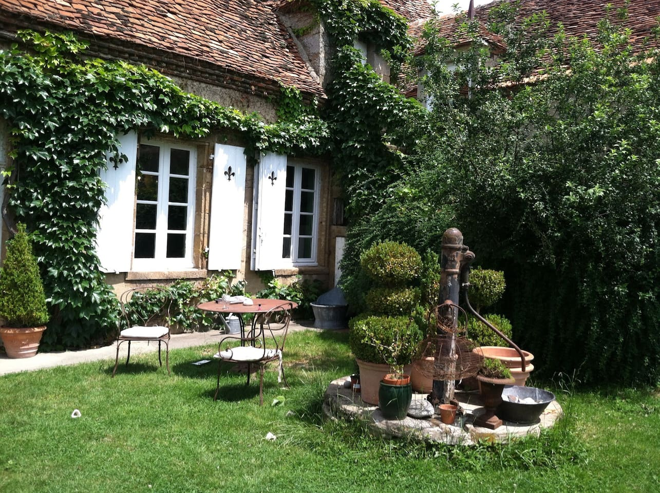 The beautiful garden and property