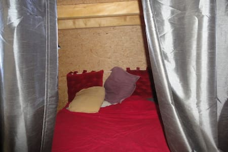 alcôve Hélichryse dans gîte  d'Etape Refuge - Loft