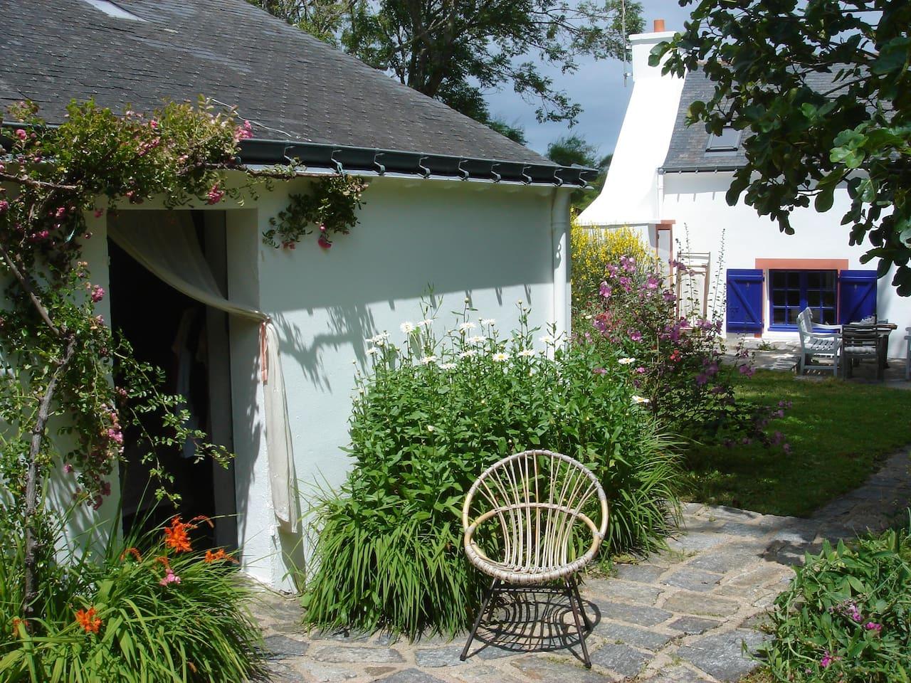 Entrance to garden double bedroom