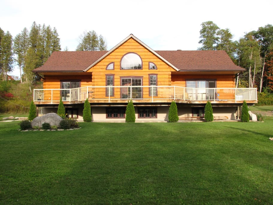 Our home was built in 2010 by a local, Canadian log home manufacturer. Enjoy the warmth and natural feel!