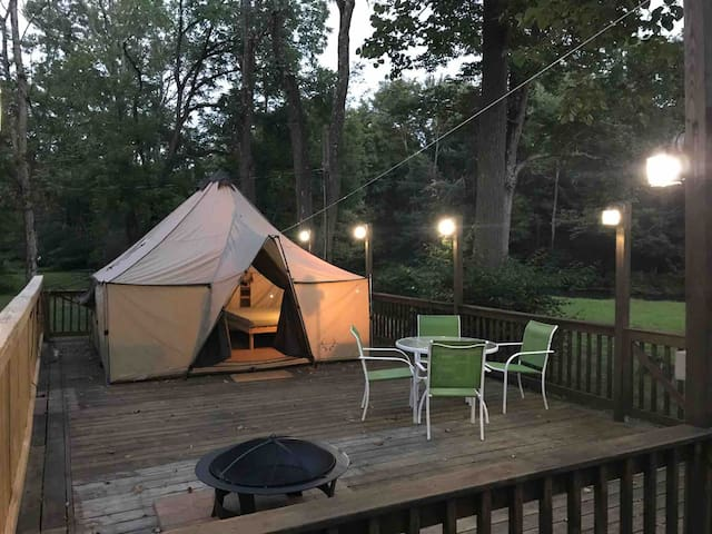 Tent Rental with Creek View