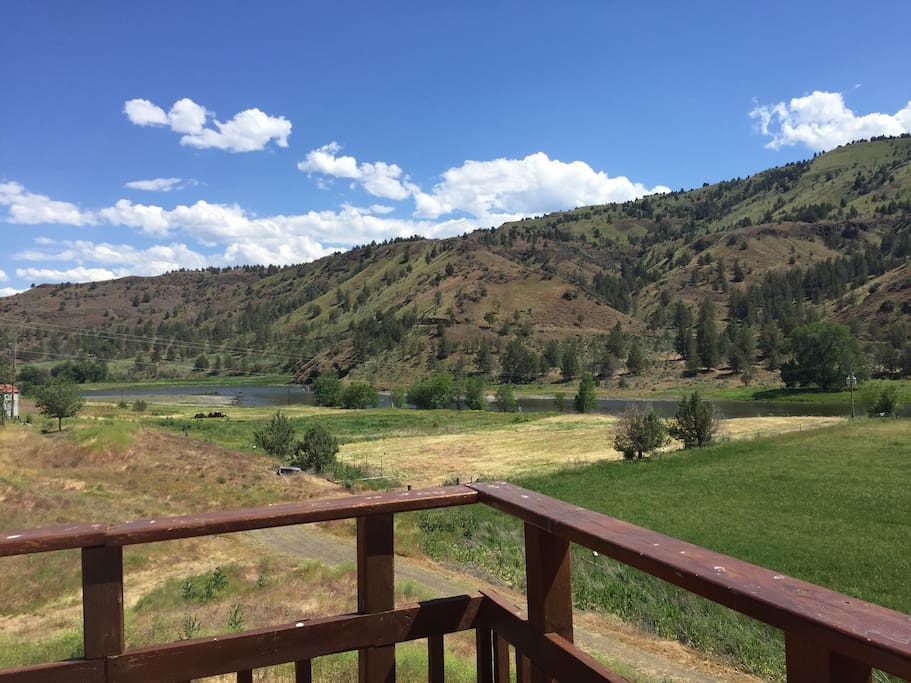 View of John day river from deck