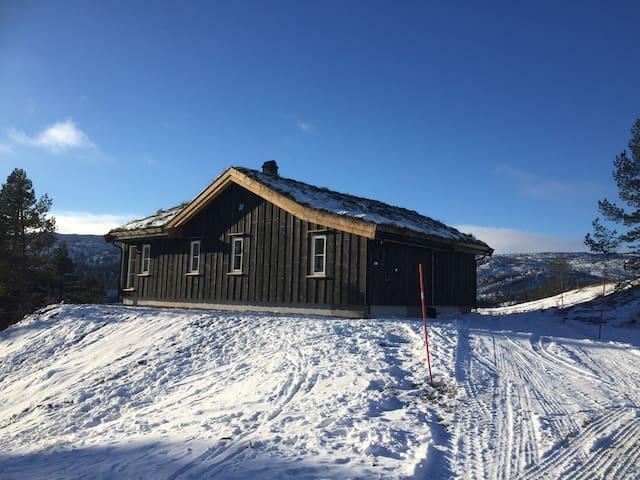 Bortelid: ny velutstyrt hytte med panoramautsikt - Åseral kommune - Zomerhuis/Cottage