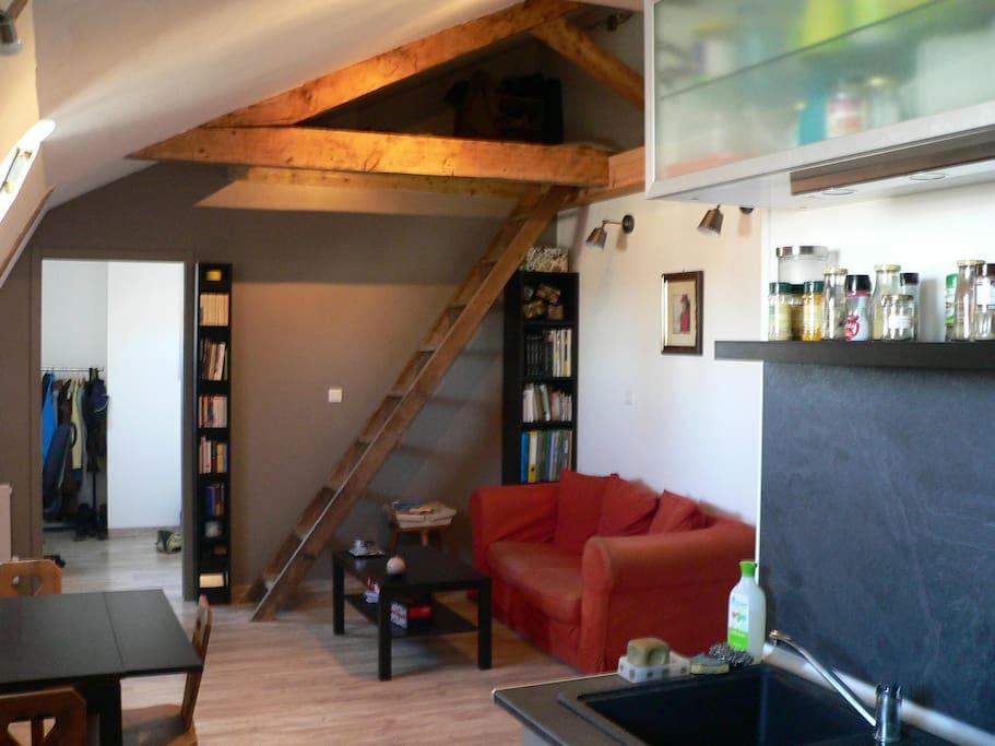 appartement sous les toits d 39 un immeuble bourgeois appartements louer bordeaux aquitaine. Black Bedroom Furniture Sets. Home Design Ideas
