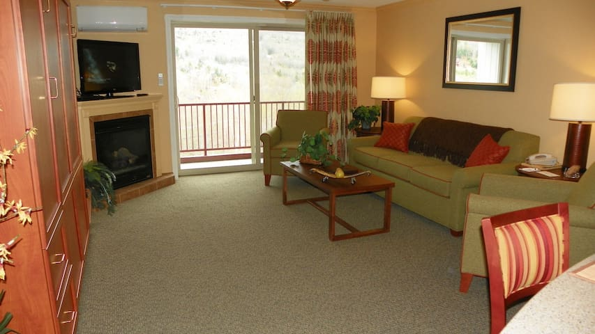 Relax in style at Pollard Brook in Lincoln NH similar unit pictured