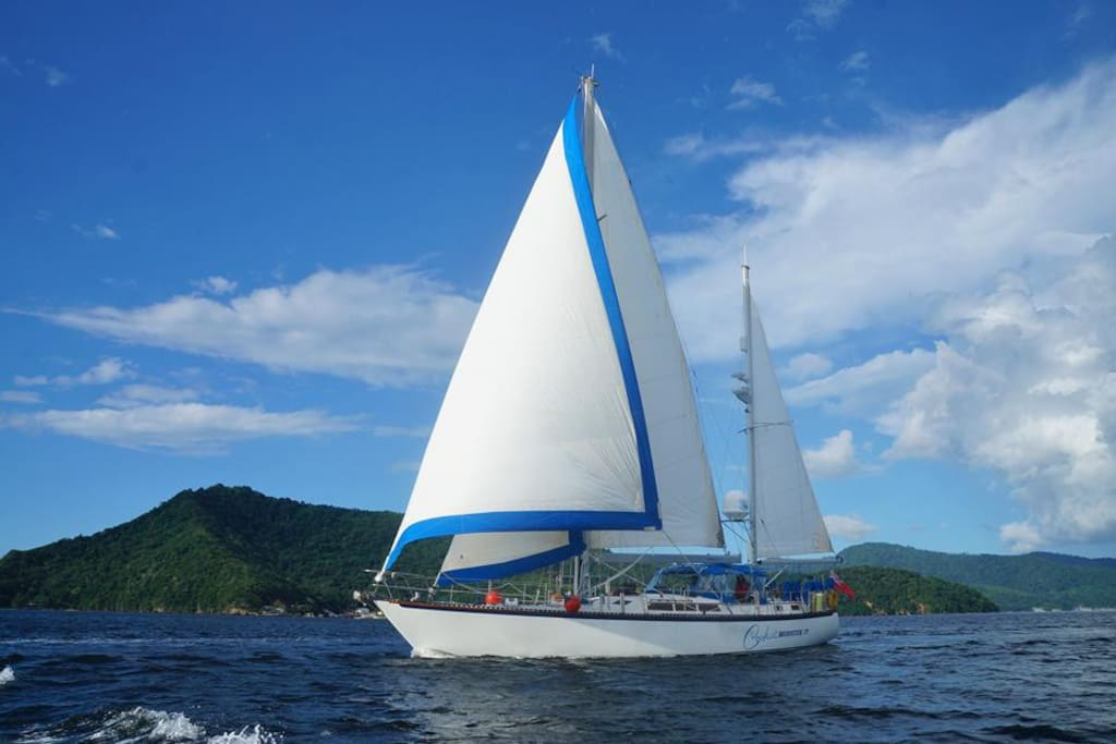 out sailing in Trinidad