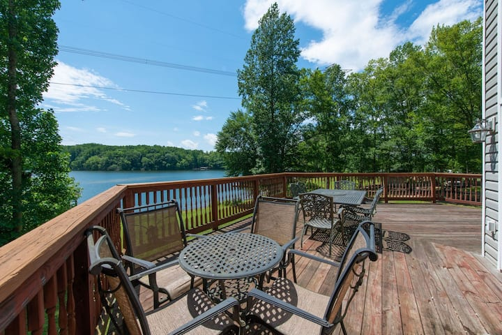 Water front, family & pet friendly home w/ dock, & game room