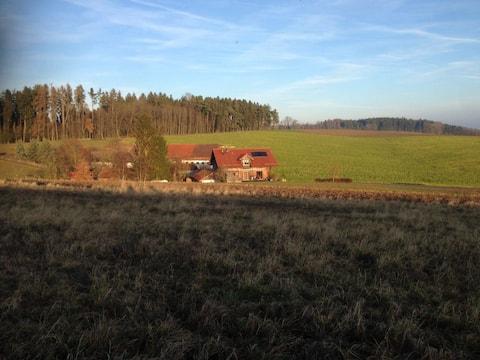 Ferienwohnung am Waldrand mit Aussicht