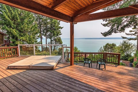 Relaxing Waterfront/Spa by Olympic National Forest