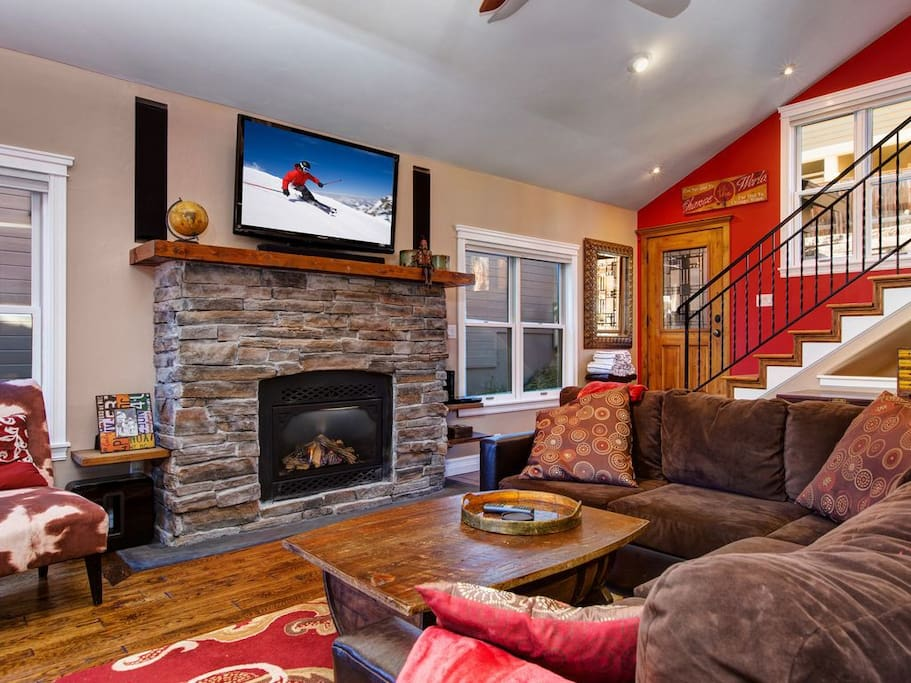 Cozy fireplace -  TV viewing