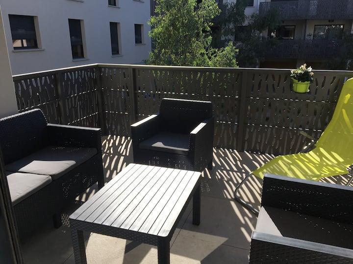 Appartement T2 avec terrasse dans résidence