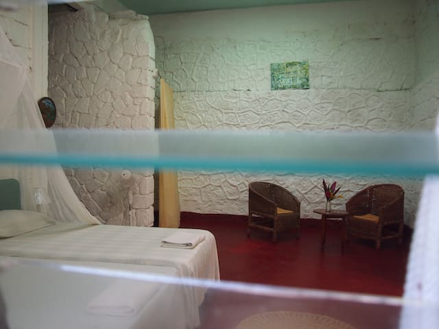 Spacious Double Room in Renovated-Pirate Fort - Robins Bay, St. Mary, Jamaica